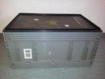 3 x klappboxen mit deckel klappkisten kunststoffbox faltbox ssi sch fer 60 x 40 ebay. Black Bedroom Furniture Sets. Home Design Ideas